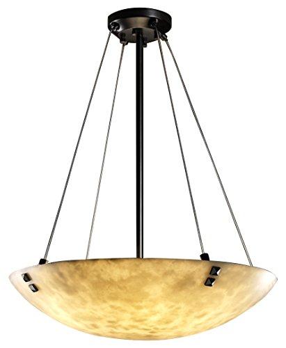 Clouds Matte Finials Black - Justice Design Group Lighting CLD-9661-35-MBLK-F3-LED3-3000 Finials 21