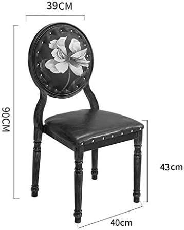 HXF- Chaise de salle à manger, chaise de bureau, dossier créatif, chaise de loisirs, chaise de salle à manger pour adulte, durable