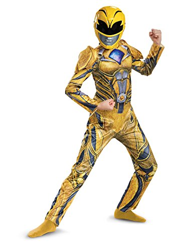 Disguise Ranger Movie Deluxe Costume, Yellow, Large (10-12)]()