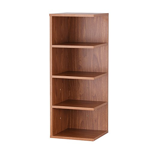 Asense 32 inch Reader's Stand 4 Shelf Bookcase (Brown)