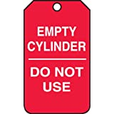 Accuform Signs MGT202CTP Cylinder Status Tag, Legend