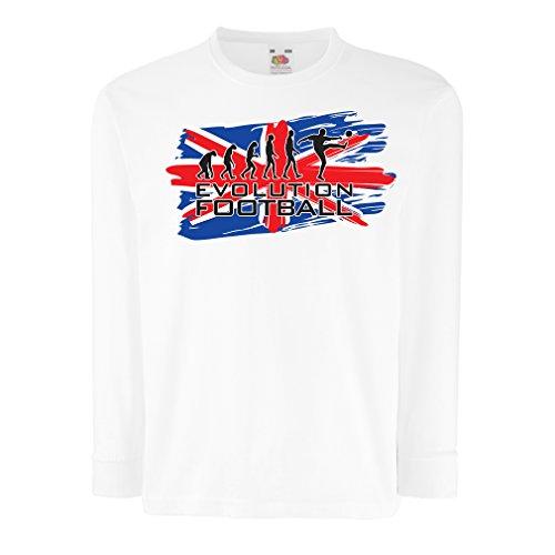 lepni.me T-Shirt For Kids Evolution Football (14-15 Years White Multi Color)