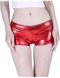 Women's Shiny Metallic Booty Shorts Liquid Wet Look Hot...