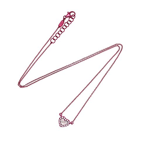 AS29 Collier Or Blanc 18carats (750/1000) Ronde Diamant Blanc Femme 40cm