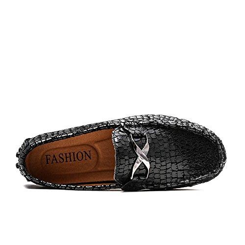de del del Metal del Vestido Negocio los Hebilla Textura Mocasines Casuales Xiazhi shoes Los Zapatos del Hombres cocodrilo Opcional del imitan holgazán Caliente la qwZX6Pt4
