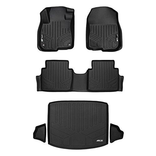 SMARTLINER Custom Fit Floor Mats 2 Rows and Cargo Liner (Factory Lower Deck Position) Set Black for 2017-2019 Honda CR-V ()