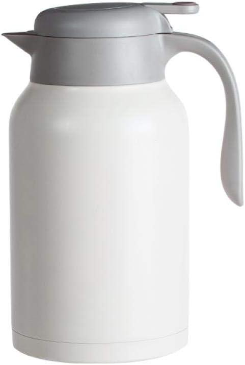 ASDFGH Termo de Acero Inoxidable. Olla de Gran Capacidad térmica de la Caldera portátil. 1.6L- de Origen Termo Grande Botella Abierta Blancas
