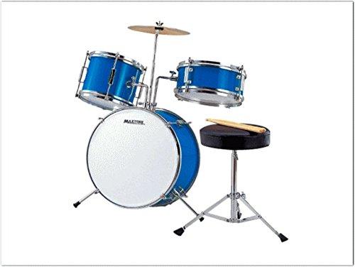 ミニドラム(お子様向けジュニアドラム)MX-50BLU 交換ドラムヘッド付き(ストリートライブなどでも使える)   B00LPFZ88S