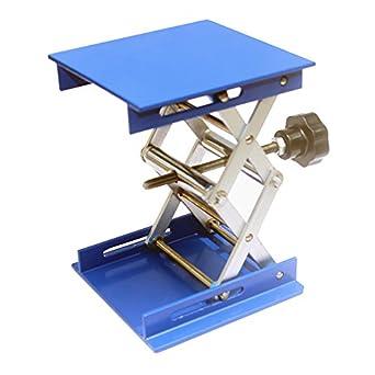Captivating Lift Tables 4 X 4u0026quot; Aluminum Micro Lift Tables Platforms Scissor  Mechanism Lab Lifting