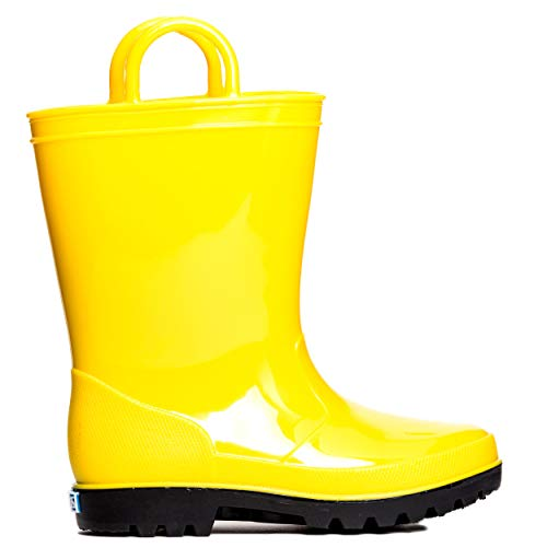ZOOGS Kids Waterproof Rain Boots for Girls, Boys, and Toddlers Yellow, 10 Toddler