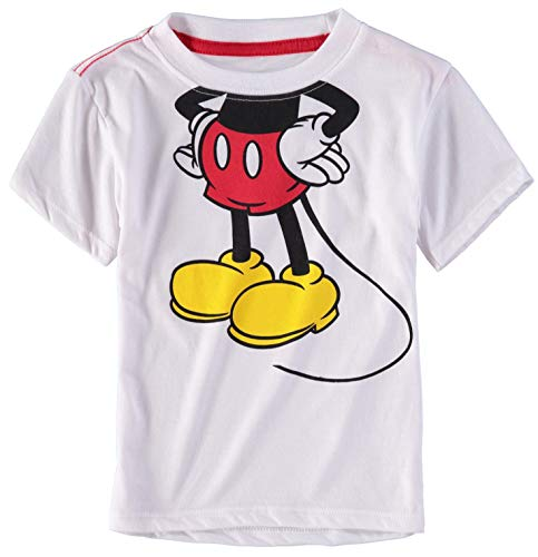 Mickey Mouse Boys Toddler and Youth Graphic Fashion T-Shirt (2T, Mickey Body)