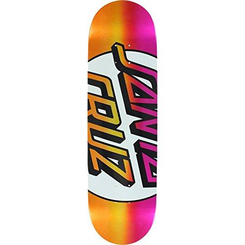 描写マイクロベスビオ山Santa Cruz Big Missingドットテーパ先端Deck 8.5ピンク/レッド – Assembled as complete skateboard