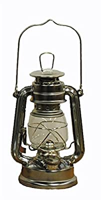 Silver Hurricane Kerosene Oil Lantern Emergency Hanging Light / Lamp - 8 Inches