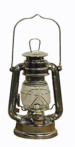 Silver Hurricane Kerosene Oil Lantern Emergency Hanging Light / Lamp - 8 Inches