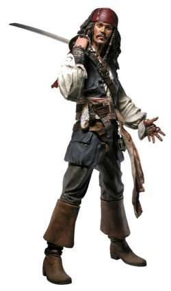 """Used, Pirates of the Caribbean Jack Sparrow 18"""" Action Figure for sale  Delivered anywhere in USA"""