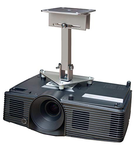 PCMD, LLC. Projector Ceiling Mount Compatible with NEC VT46 VT460 VT465 VT560 VT660 VT660K with Lateral Shift Coupling (10-Inch Extension)