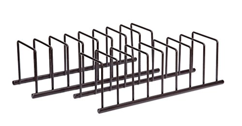 StorageManiac Bakeware Pot Lid Rack Holder Organizer, Pantry and Cabinet Holder, Bronze, 2-Pack