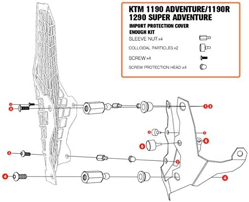 OUYAWEI Prot/ège-Objectif de Protection de Phare de Moto pour Grille pour KTM 1190R 1190 1290ADV