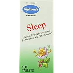 Hyland's Sleep Relief Tablets, Natural Relief of Occasional Sleeplessness and Nervousness, 100 Count