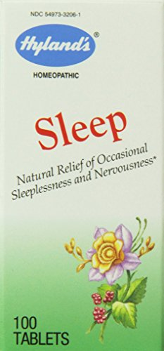 Hyland's Sleep Relief Tablets, Natural Relief of Occasional Sleeplenssness and Nervousness, 100 Count