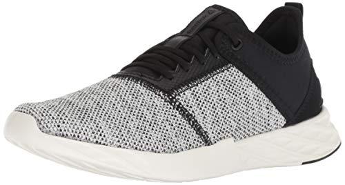 Reebok Women's Astroride Edge Running Shoe, Knit-Black/Chalk, 8 M US (Womens Reebok Shoes)