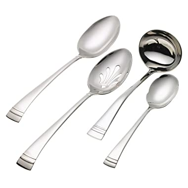 Lenox Federal Platinum 4-Piece Stainless Steel Hostess Set, Silver - 6024939