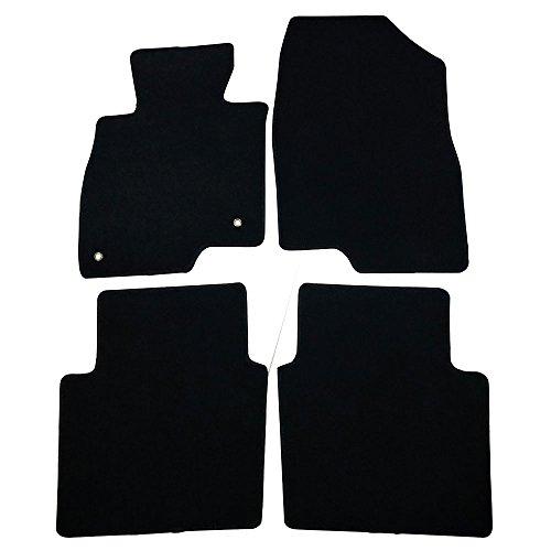 Floor Mats Fits 2013-2017 Mazda 6 | 4 PCS Black Nylon Front Carpets Flooring Protection Interior By IKON MOTORSPORTS | 2014 2015 - Touring Grand 6 Mazda