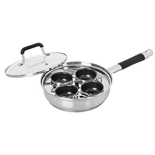 Cheap CONCORD Premium Stainless Steel w/ 4 Egg Poacher Nonstick Trays Specialty Cookware Set. Silicon Handles. TRIPLY BOTTOM