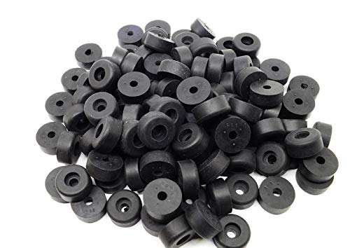 Hole Size Black SBR Rubber Cylindrical Recessed Bumper 5//8 5//32 Height 9//32 Diameter Pkg of 24