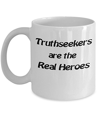 Matrix Mug - Coffee Wisdom Quotes - Ceramic - Office - Tea Cup Gift - 11 oz - White - Truthseekers Are The Real Heroes - Education