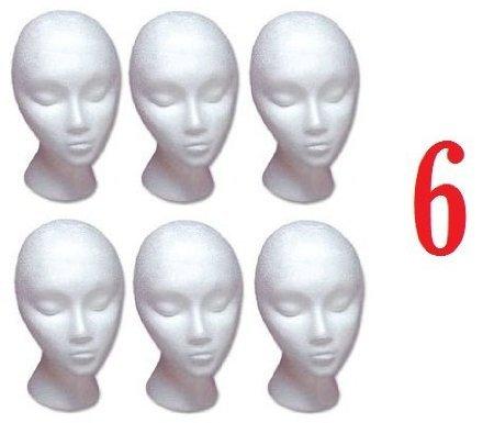 (SHANY Styrofoam Model Heads / Hat Wig Foam Mannequin / Half Dozen Jumbo Pack)