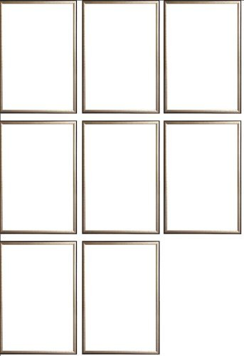 Eight(8) Wood Metallic Gold Finish Poster Frame 24x36 or 36 x 24 by Generic