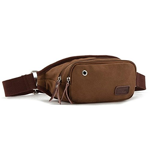 Lalawow Borsa a tracolla Waist Bag Chest Bag Canvas