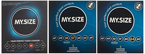 My.Size Kondome - 3er Probierset (je 3x 57, 60, 64mm)