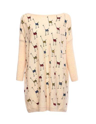Hanson Woman Giraffe Print Oversized Slouch Fashion Jumper Pullover (Light - Macy S C
