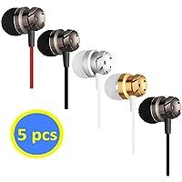 Geeboy Headphones Wholesale 5 Pack in-Ear Mic 3.5mm...