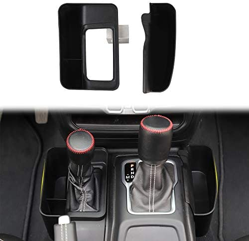 Car Center Console Gear Shift Storage Bag Organizer Cell Phone Holder for 2018-2020 Jeep Wrangler JL Gladiator JT with Auto Transmission