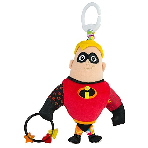Lamaze Disney/Pixar Clip & Go, Mr. Incredible Clip-On Stroller Toy ()