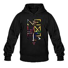 QDYJM Men's Neymar JR Logo Soccer Hoodie- Black