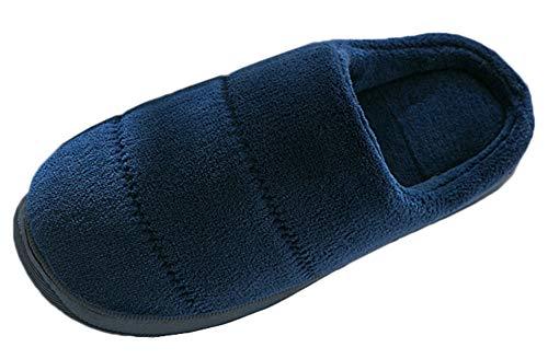 Chaleur Coucher Slippers Salle Accueil Chaussures Automne de Slip de Femmes Anti Hiver Pantoufles Snone Bureau Hommes Intérieur extérieur Foncé Pantoufle Sandales à de Séjour Bleu Aw4OaqqZ