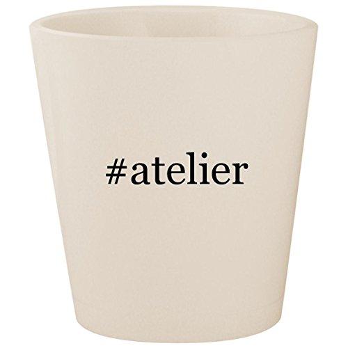 - #atelier - White Hashtag Ceramic 1.5oz Shot Glass