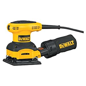 Factory-Reconditioned DEWALT D26441R Heavy-Duty 2.4 Amp 1/4 Sheet Palm Grip Sander with Cloth Dust Bag
