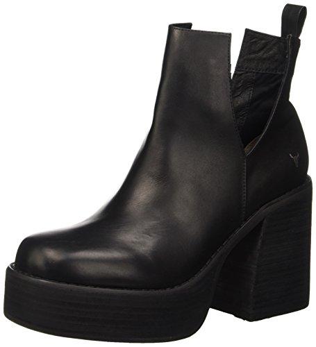 Windsor Black Mujer para Zapatillas Listen Leather Negro Altas Smith rxqn1BOwWr