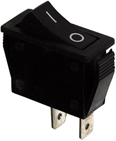 Interrupteur commutateur contacteur bouton /à bascule noir SPST ON-OFF 16A//250V 2 positions AERZETIX