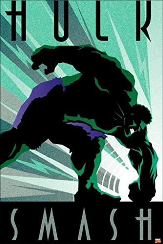 - Pyramid America Incredible Hulk Smash Marvel Comics Art Deco Design Superhero Poster 24x36 Inch