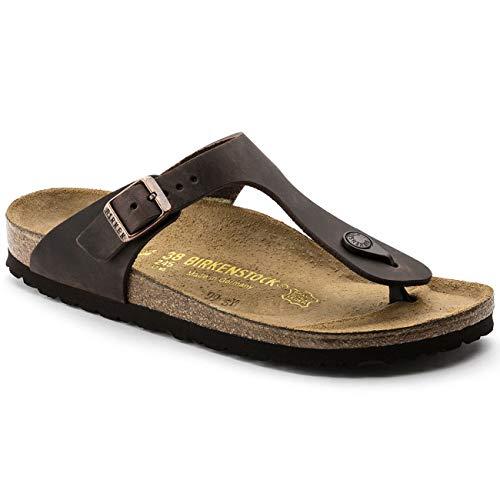 Birkenstock Gizeh Natural Leather, Style-No. 743831, Unisex Thong Sandals, Habana, 9.5 UK (44 EU), Normal Width