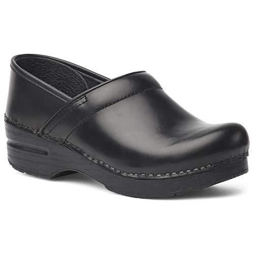(Dansko Women's Professional Clog Black Cabrio Leather 36 Medium )