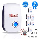 Marano Ultrasonic Pest Repeller, Electronic Plug in Pest Control Indoor for Bug and Rodent Mice Insects Ant Mosquito Spider Roach, Child and Pets Safe Control