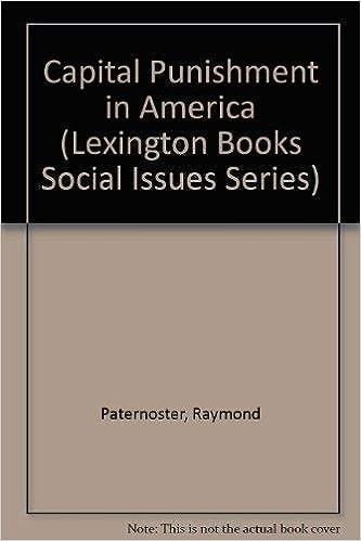 Amazon com: Capital Punishment in America (Lexington Books