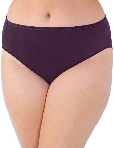 Vanity Fair Women's Plus Size Illumination Hi Cut Panty 13810, Sangria, 5X-Large/12